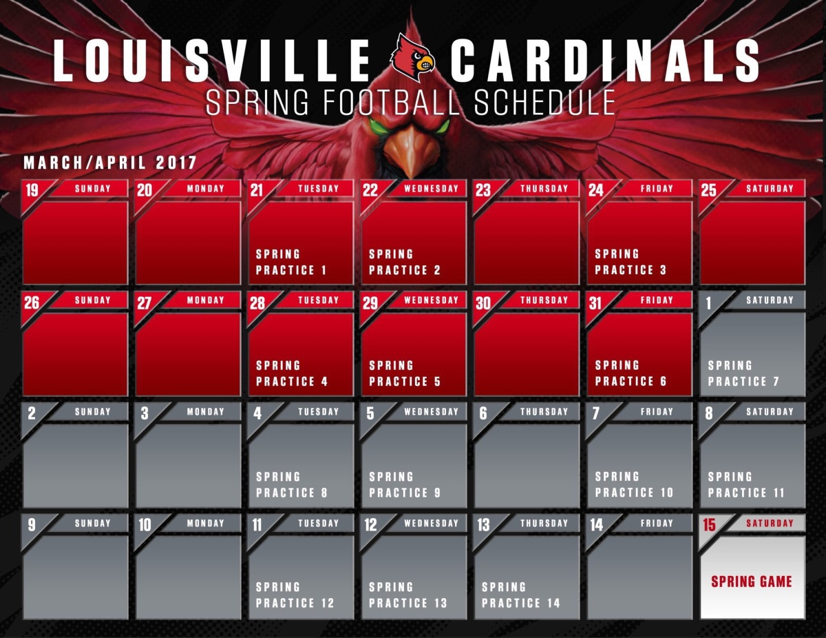 Louisville Football Spring Schedule Released. Oh Snap ...